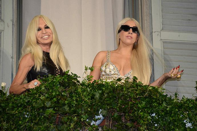 Lady Gaga in Milan meet Donatella Versace