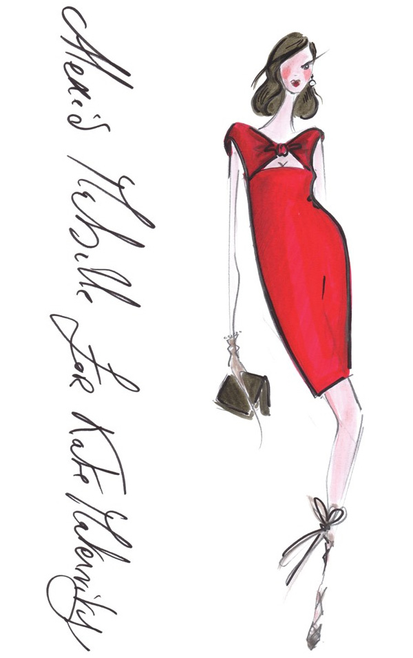 kate-middleton-outfits-sketches-Alexis-Mabille