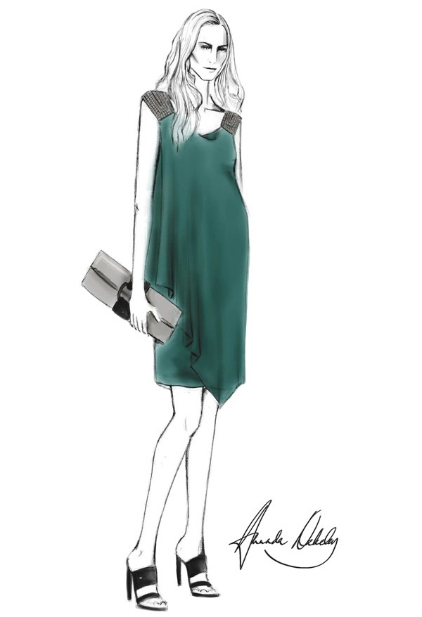 kate-middleton-outfits-sketches-Amanda-Wakeley