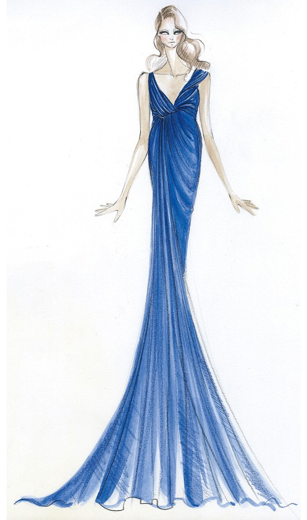 kate-middleton-outfits-sketches-Donna-Karan