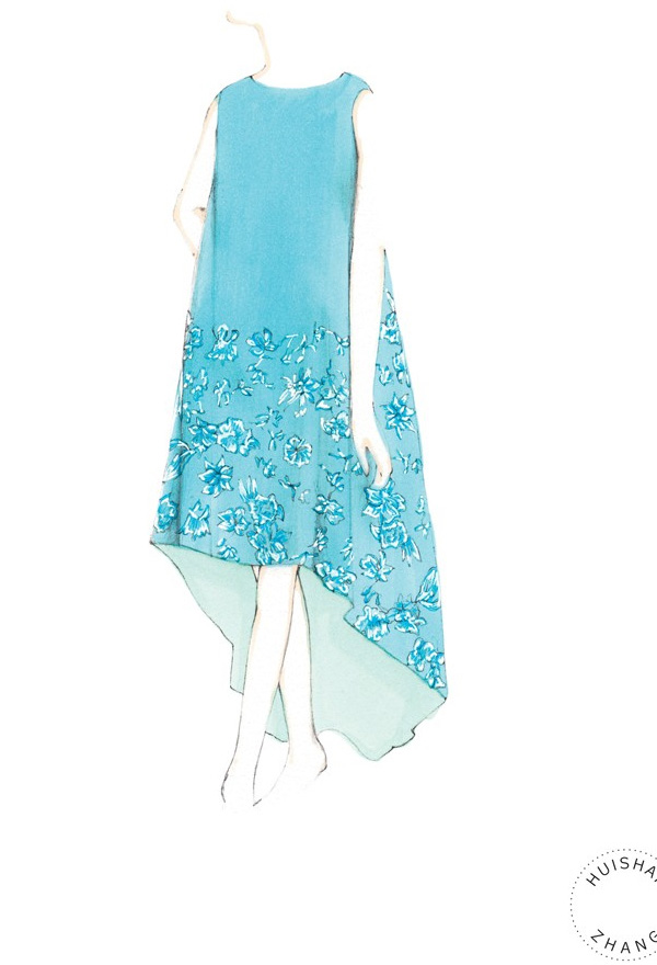 kate-middleton-outfits-sketches-Huishan-Zhang