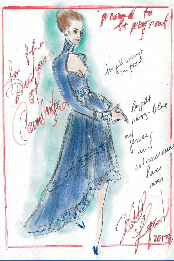 kate-middleton-outfits-sketches-Karl-Lagerfeld