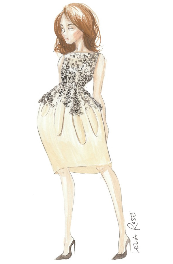 kate-middleton-outfits-sketches-Lela-Rose