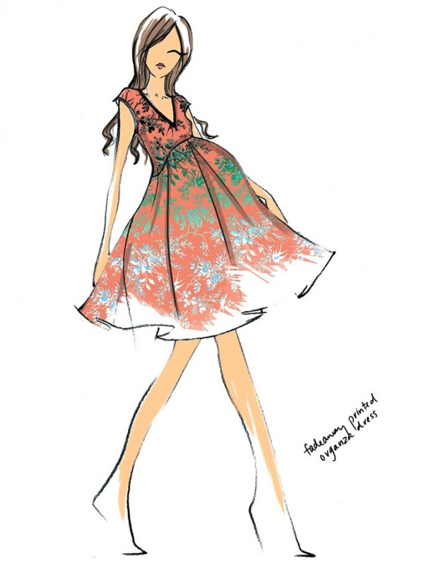 kate-middleton-outfits-sketches-Nanette Lepore