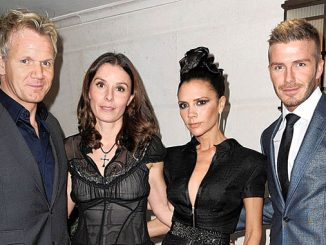 Gordon and Tana Ramsay and Victoria and David Beckham