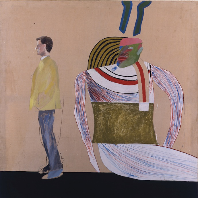 David_Hockney_Man_in_a_Museum_Or_Youre_in_the_Wrong_Movie_1962
