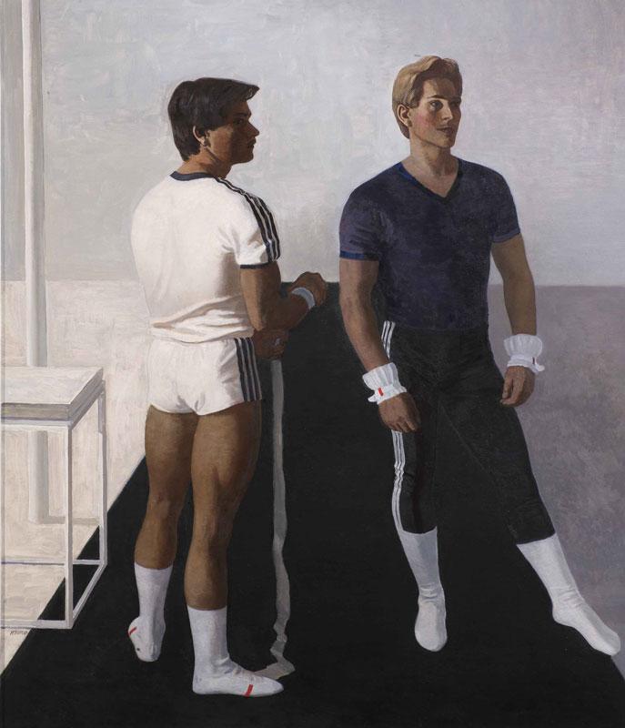 Mikhail-Izotov,-Gymnasts.-Portrait-of-Vladimir-Artemov-and-Yuru-Korolyov-(1987)