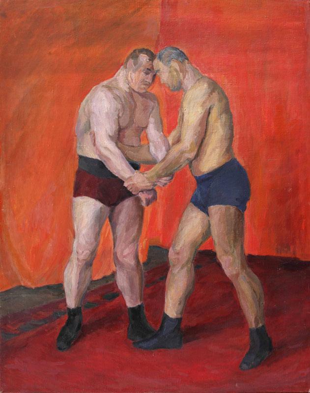 Olga-Vaulina,-Wrestling-(1930s)