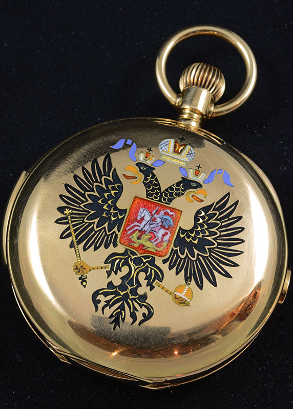 18ct gold hunting cased pocket watch