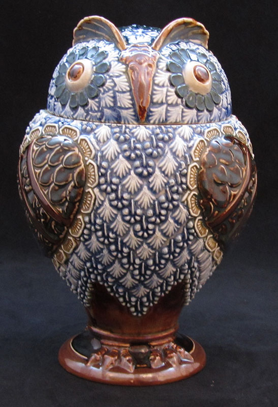 Doulton-Lambeth-lidded-jar-Owl