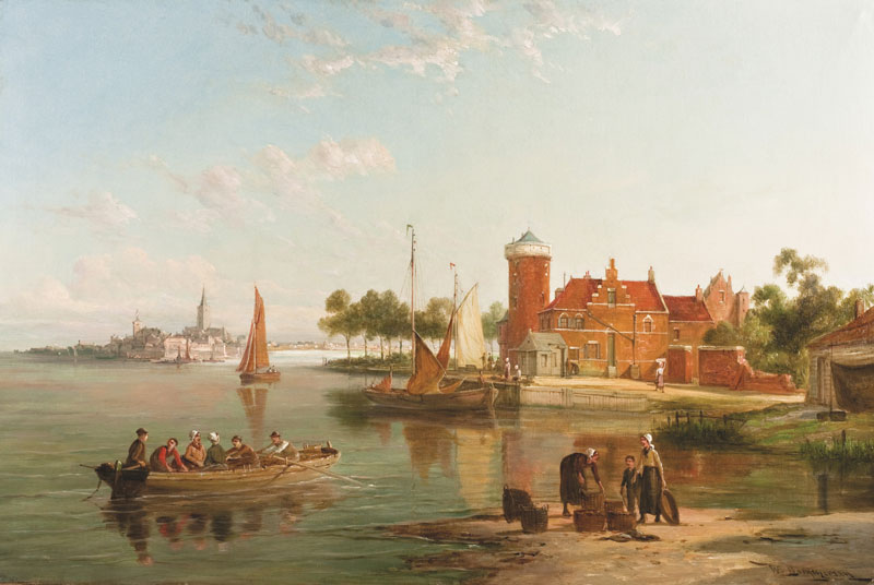 In the Zuider Zee' by William Raymond Dommersen