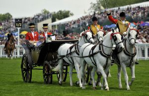 The Queen and Duke of Edinburgh arrive on day three of the Royal Ascot Meeting at Ascot Racecourse, Berkshire.