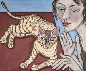 Eileen Cooper, Belong to Cats II. Oil on canvas. Eileen Cooper RA, Photo: Malcolm Southward