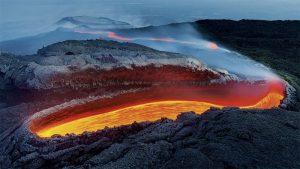 """""""Река огня на вулкане Этна"""". Лучиано Гауденцио"""