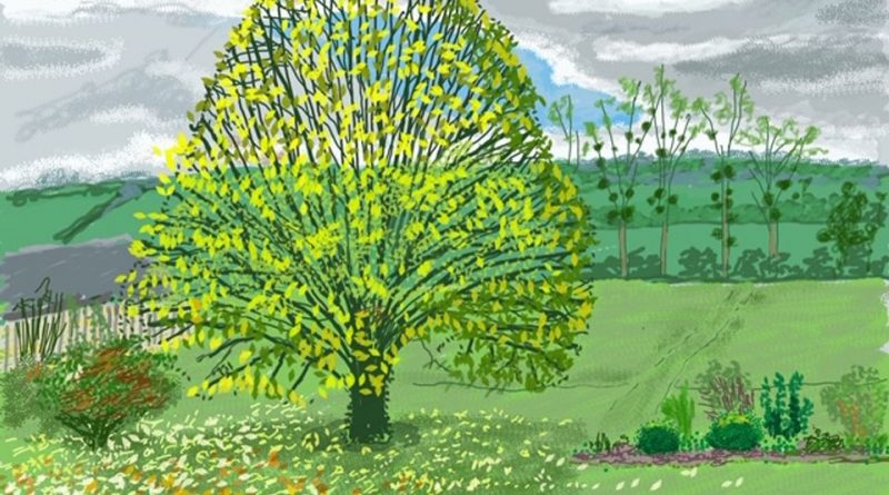 David Hockney, The Big Tree in Autumn (30 October 2020) © David Hockney