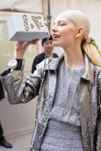 'Lait de Coco', evening bag, Karl Lagerfeld, 2014. © Jason Lloyd Evans
