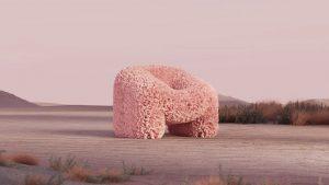 "Виртуальная мебель Hortensia Chair  Andres Reisinger  ""The Shipping"". Digital Furniture Auction"