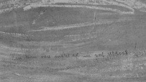 Инфракрасный скан картины. Надпись карандашом, сделанная Мунком