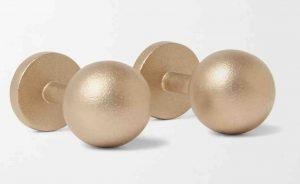 Alice Made This. Grafton Blasted 9-Karat Gold Cufflinks. £2,600