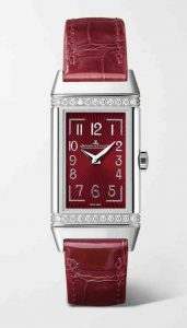 Jaeger-LeCoultre. Silver Reverso One 20mm stainless steel, diamond and alligator watch. £4,750