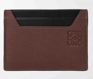 LOEWE Logo-Debossed Smooth and Full-Grain Leather Cardholder. £175
