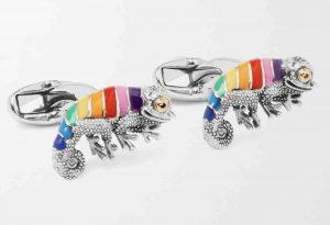 PAUL SMITH, Chameleon Enamel and Silver-Tone Cufflinks, £100