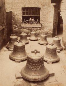 На территории Whitechapel Bell foundry, около1880  Photo: Macarthur Family miscellaneous photographs, State Library of New South Wales