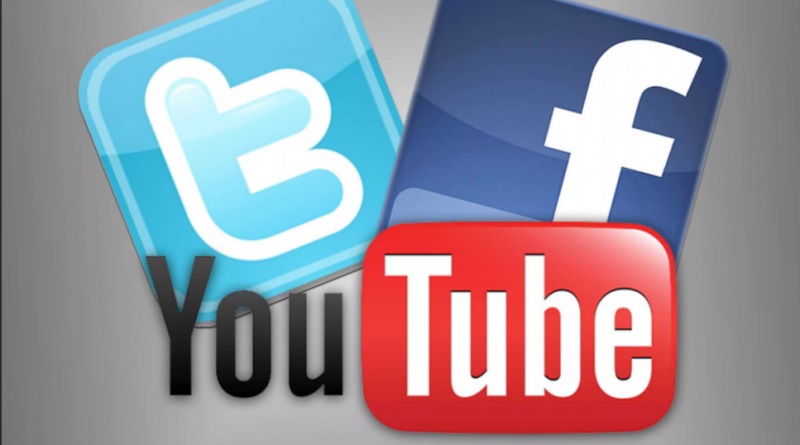 Facebook, Twitter и YouTube