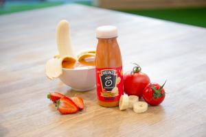 микс овощного супа и фруктового смузи Smoup