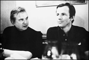 Francis Bacon and Peter Beard photographed in the 1970s.  Courtesy of The Estate of Peter Beard