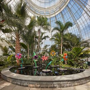 My Soul Blooms Forever is one of the sculptures on display inside the conservatory.