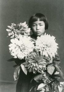 Yayoi Kusama around age 10.