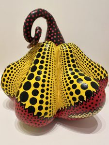 """Sculpture in """"Kusama: Cosmic Nature"""" at the New York Botanical Garden. Collection of the artist."""