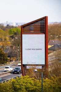 Yoko Ono, I LOVE YOU EARTH. Chiswick Towers' digital billboards, West London. Photo_David Parry_PA Wire (1)