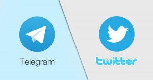 телеграм и твиттер