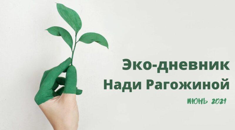 Эко-дневник Нади Рагожиной - июнь 2021