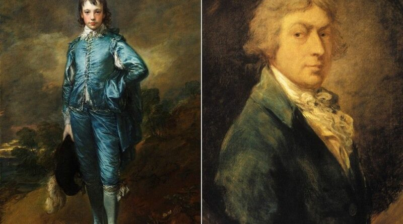 The Blue Boy was painted by Thomas Gainsborough (right) in 1770 IMAGE COPYRIGHT NATIONAL GALLERY/GETTY