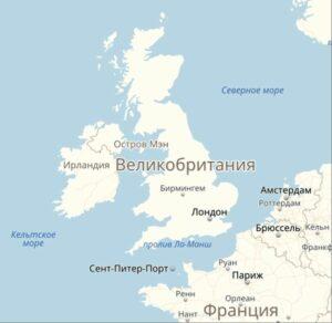Ла-Манш на карте